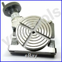 100MM 4 Rotary Table 4 Slot Horizontal Vertical Milling