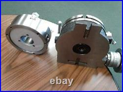 10 HORIZONTAL & VERTICAL ROTARY TABLE w. 10 3 jaw chuck front mounting