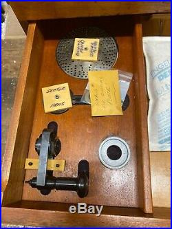 11 Moore Rotary Table Special LRT 391 With Wooden Cabinet & Accesories