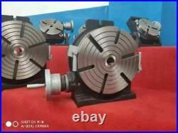 12 PRECISION HORIZONTAL VERTICAL ROTARY TABLE & 10 3 jaw chuck top&bottom jaws