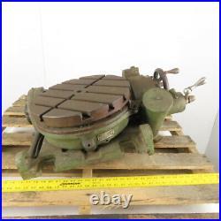 16 Diameter Manual Horizontal /Vertical Tilt Rotary Turn table Parts or Repair