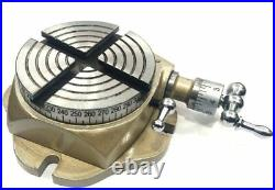2-3/4 Watch Maker Jewelry Rotary Table, 50mm 4 Jaw Independent Chuck Tools
