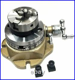 2-3/4 Watchmaking Rotary Table, 50 MM 3 Jaws Self Centering Chuck +back Plate