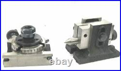 3'' 80 mm Rotary table with ER-16 Collet Adapter M6 Clamp Kit Round Vice Tools