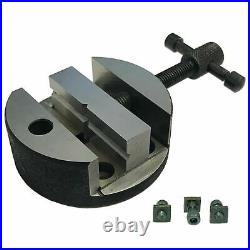 3 80mm Rotary Table With Suitable Tailstock M6 ClampKit Vice Round Vise Milling