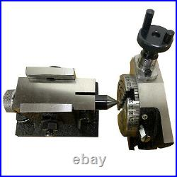 3 Inch 80mm Rotary Table H/V 4 Milling Slots And Suitable Single Bolt Tailstock