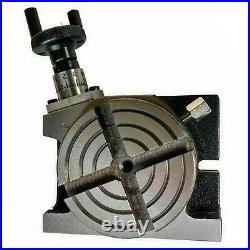 3 Inch Precision Rotary Table 80mm H/V 4 Milling Slots & Single Bolt Tailstock