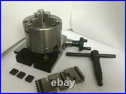 3 rotary table 3 slot and 80mm lathe chuck with reversible jaws