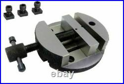 3 round vice & 3(80mm) rotary table milling metal-cut. Free shipping