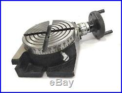 4100mm Rotary Table Horizontal Vertical+m6 Clamp Kit+65 MM 3 Jaws Self Centring