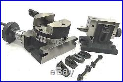 4100mm Rotary Table Horizontal Vertical+tailstock+m6 Clamp Kit+100mm Round Vice