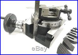 4100mm Rotary Table Horizontal Vertical+tailstock+m6 Clamp Kit+80 MM Round Vice