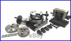4100mm Rotary Table+horizontal Vertical+tailstock+m6 Clamp+65mm 3jaw Self+vice