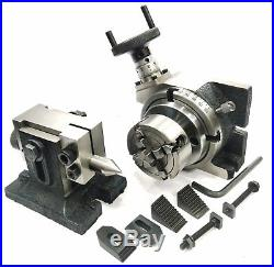 4100mm Rotary Table+horizontal Vertical+tailstock+m6 Clamp+70mm 4jaw Dog+vice