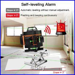 4D Rotary 16 Lines Self Leveling Laser Level Green Bean Horizontal Vertical Kit