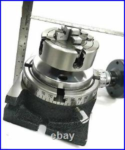 4/ 100 Rotary Table & Small Chuck & Fixing T Nut Bolts Milling Indexing Table