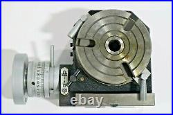 4 100mm HORIZONTAL & VERTICAL PRECISION ROTARY TABLE, #HV4 TB195
