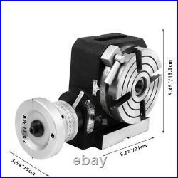 4 100mm Rotary Table HV4 4-Slot Precision Durable Horizontal Milling Machine