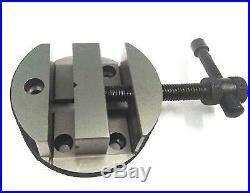 4/100mm Rotary Table Horizontal Vertical+tailstock+vice+m6 Clamp+70mm 4jaw Dog