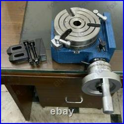 4 110mm HV4 Horizontal Vertical Rotary Table with M8 Clamp Kit for Milling