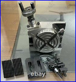 4 HORIZONTAL & VERTICAL PRECISION ROTARY TABLE w. Clamping kit