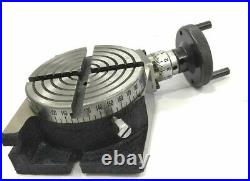 4 Inches (100 mm) Rotary Table 4 Slot for Milling Machine Tools Workholding
