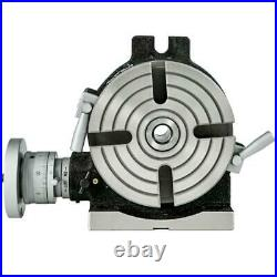 4 Slots 6 Inch Rotary Table Milling Machine Horizontal Vertical Indexing Plate