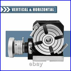 4 inch-100mm Quality Rotary Table Horizontal Vertical Model-Milling Machine