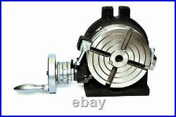 6/150 MM ROTARY TABLE 4 SLOT Horizontal & Vertical Precision Quality
