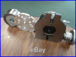 6 HORIZONTAL & VERTICAL ROTARY TABLE w. Adapter & 3-jaw chuck, #IN-TSL6-C5-new