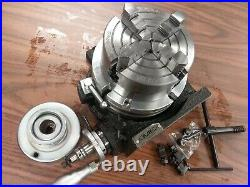 6 HORIZONTAL & VERTICAL ROTARY TABLE w. Adapter & 4-jaw independent chuck TSL