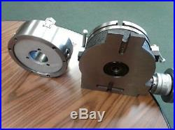 8 HORIZONTAL & VERTICAL ROTARY TABLE 3-slot w. 8 3-jaw chuck, front mounting
