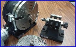 8 HORIZONTAL VERTICAL ROTARY TABLE, Dividing plates, tailstock #TSL200-GRVN-new