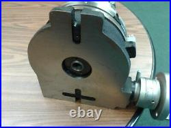 8 HORIZONTAL & VERTICAL ROTARY TABLE w. Adapter & 6 6-jaw chuck, #IN-TSL8-C6