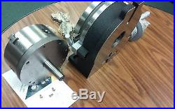 8 PRECISION HORIZONTAL & VERTICAL ROTARY TABLE w. 3jaw chuck & index plates-new