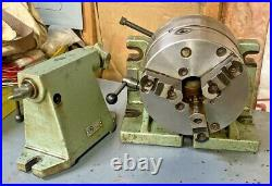 BISON 8 HORIZONTAL VERTICAL ROTARY INDEXING SUPER SPACER with Chuck & Tail Stock
