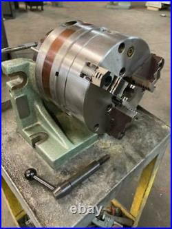 Bison 8 Horizontal/vertical rotary indexing super spacer with 8 Chuck NEW