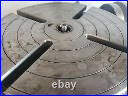 Bridgeport 12 Rotary Table includes Right Angle Mount