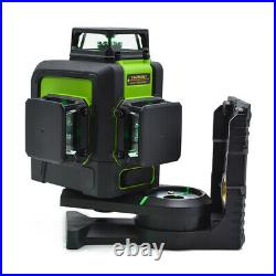 CLUBIONA 3D Green Beam Laser Level 360 Rotary Horizontal Vertical Cross 12 Lines