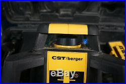 CST Berger RL25HV Horizontal Vertical Interior Exterior Rotary Laser & RD1
