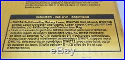 DW074KD Rotary Laser Level Kit Detector Self-Leveling Horizontal Vertical