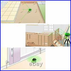 Electronic Self-Leveling Green Rotary Laser Level Kit -Horizontal&Vertical/Up