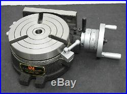 HOMGE Precision Tool 6 Rotary Table Vertical Horizontal 3 Slot Face NEVER USED