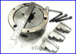 HV6 Rotary Table (150 mm -6 Inches)+125 mm 3 jaws self centering chuck-Milling