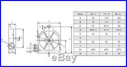 HV-4 TSL100 Vertical & Horizontal Rotary Table for Milling Machine