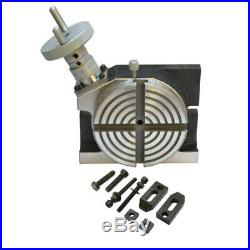 Heavy Duty 4'' H/V Rotary Table Horizontal & Vertical 100mm For Milling Machine