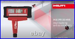 Hilti PR 30-HVS Horizontal Vertical Slope Rotating Rotary Laser Red+PRA30 Remote