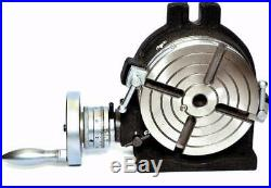 Horizontal Vertical HV6 Rotary Table (150 mm -6 Inches) for Milling Machine