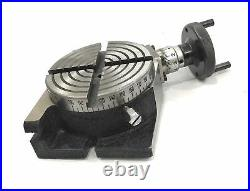 Horizontal Vertical Milling Indexing 4/100 Rotary Table 70 MM 4 Jaw Dog Chuck