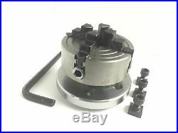 Horizontal Vertical Milling Indexing 4/100 Rotary Table & Small Chuck 70mm 4jaw